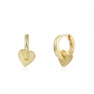 Widht heart hoop earrings