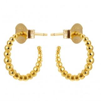 Small balls hoop earrings