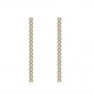 Zircons line earrings