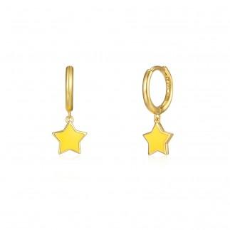 Aros Estrella Amarilla
