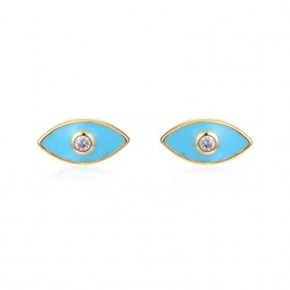 Turquoise eye stud earrings