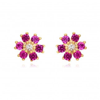 Pink Flower Loops