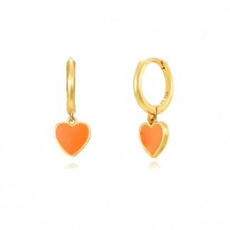 Aros Corazón Naranja