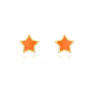 Pendientes estrella naranja
