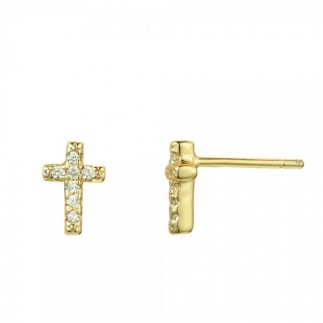 Small cross earrings