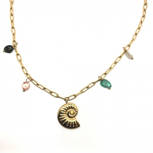 Shell and stones necklace