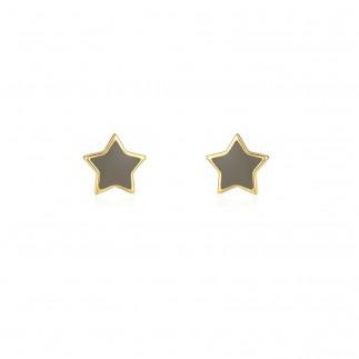 Grey Star stud earrings