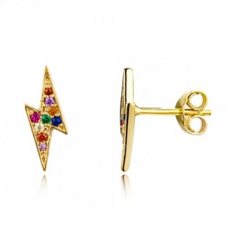 Multicolor lightning earrings