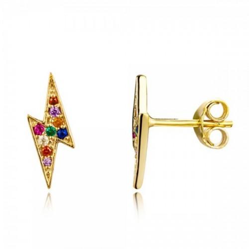 Multicolor lightning earrings