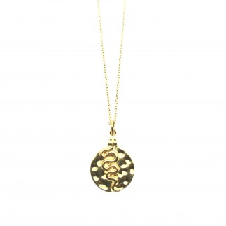Snake Medal Necklace