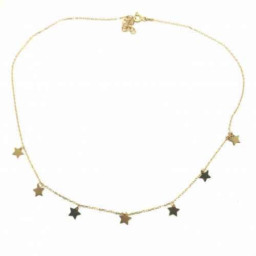 Flat Stars Necklace