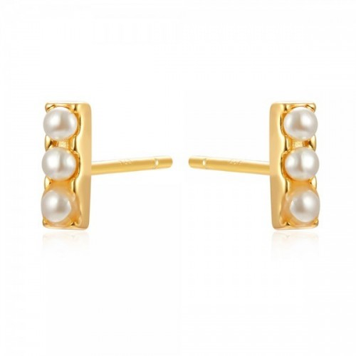Bar earrings with pearls