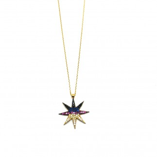 Bowie star necklace
