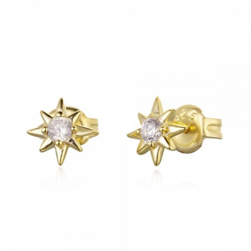 Shooting star earrings with zirconia
