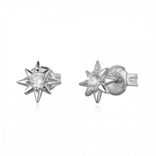 Shooting star earrings with zirconia
