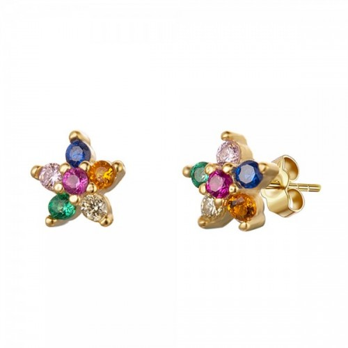 Multicolored Flower earrings