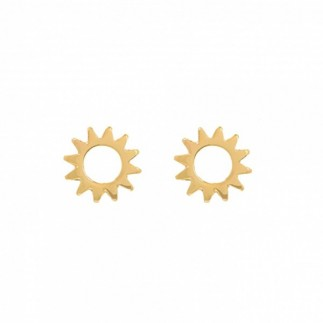 Hollow sun stud earrings