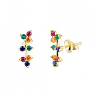 Multicolored Branches Earring