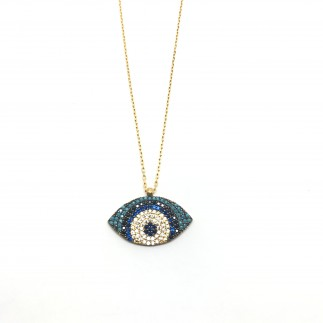 Big Eye Zirconia Necklace
