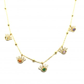 Colorful Eyes Necklace