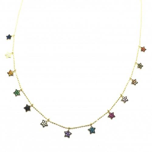 Collar Estrellas colores