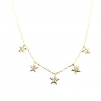 Stars zircons necklace