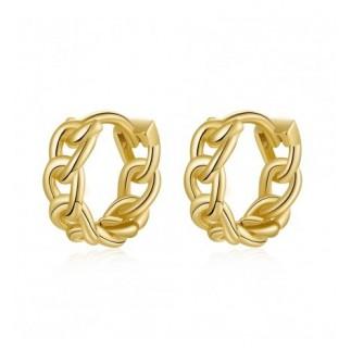 Mini link hoop earrings
