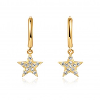 Zirconian Star Hoops