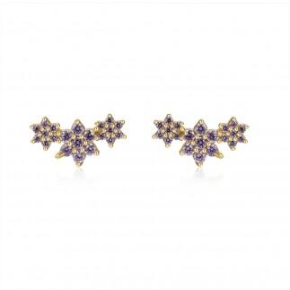 Three purple stars stud...