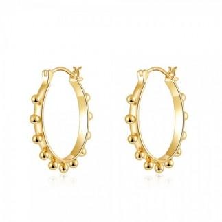 Big hoop earrings with balls