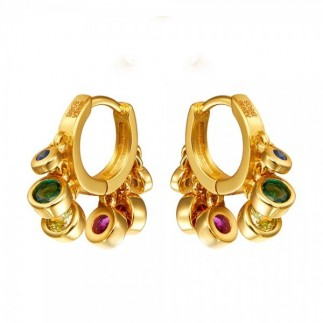 Multicolored zircons hoops