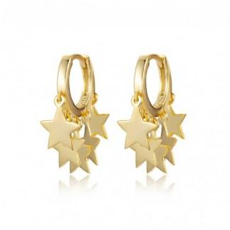 Thousand stars hoop earrings