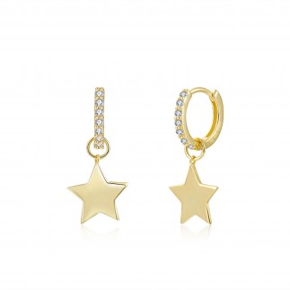 Zirconia star hoops