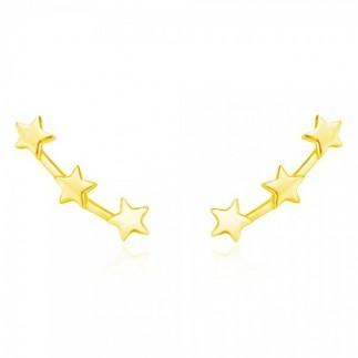 Three stars stud earrings