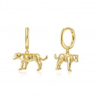 3D leopard hoop earrings