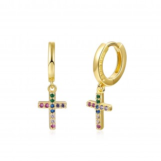 Multi colours Cross hoops